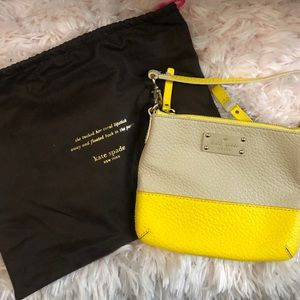 Kate Spade Yellow and Cream Crossbody Bag